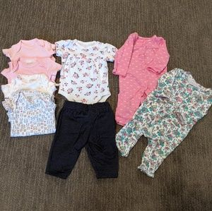 NB Lot of 8 Babygirl cloths